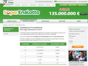 Superenalotto Italian Lotto