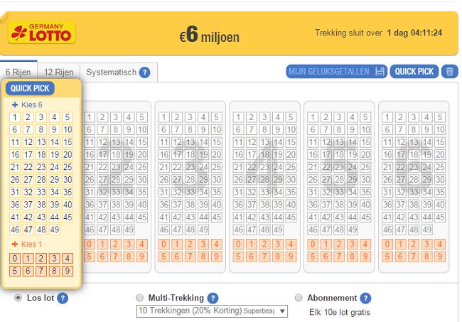 Lotto 6aus49 Germany - Loterij online